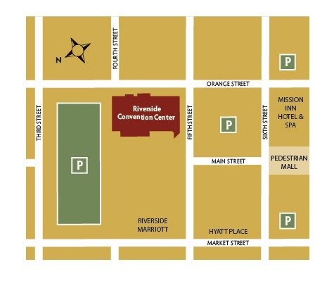 Riverside Convention Center parking map