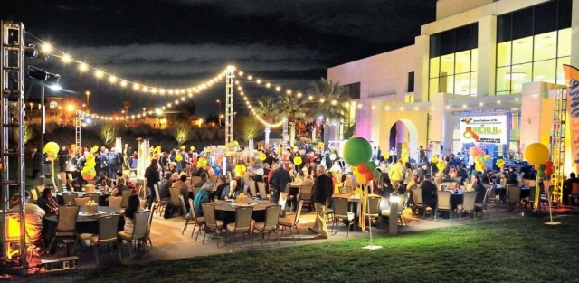 Evening event held at the convention center outdoor space