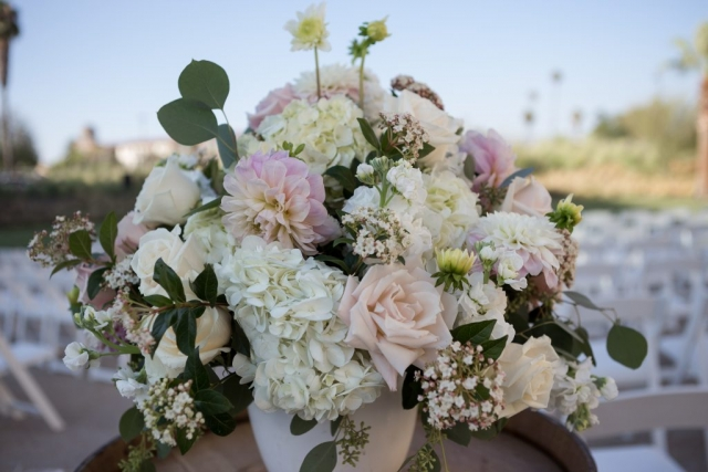 Beautiful wedding floral bouquet