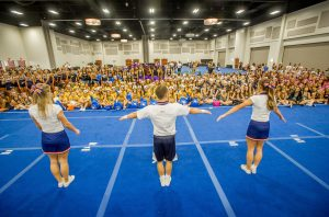 Cheer Camp at the Riverside Convention Center, July 22, 2015. (Eric Reed/Riverside Convention Center & Visitors Bureau)