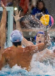 Riverside Aquatics Complex - USA WATER POLO MEN'S SENIOR NATIONAL TEAM vs SERBIA NATIONAL WATER POLO TEAM, June 4, 2015. (Eric Reed/Riverside Chamber of Commerce and Visitors Bureau)
