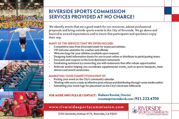 Riverside Sports Commission Services