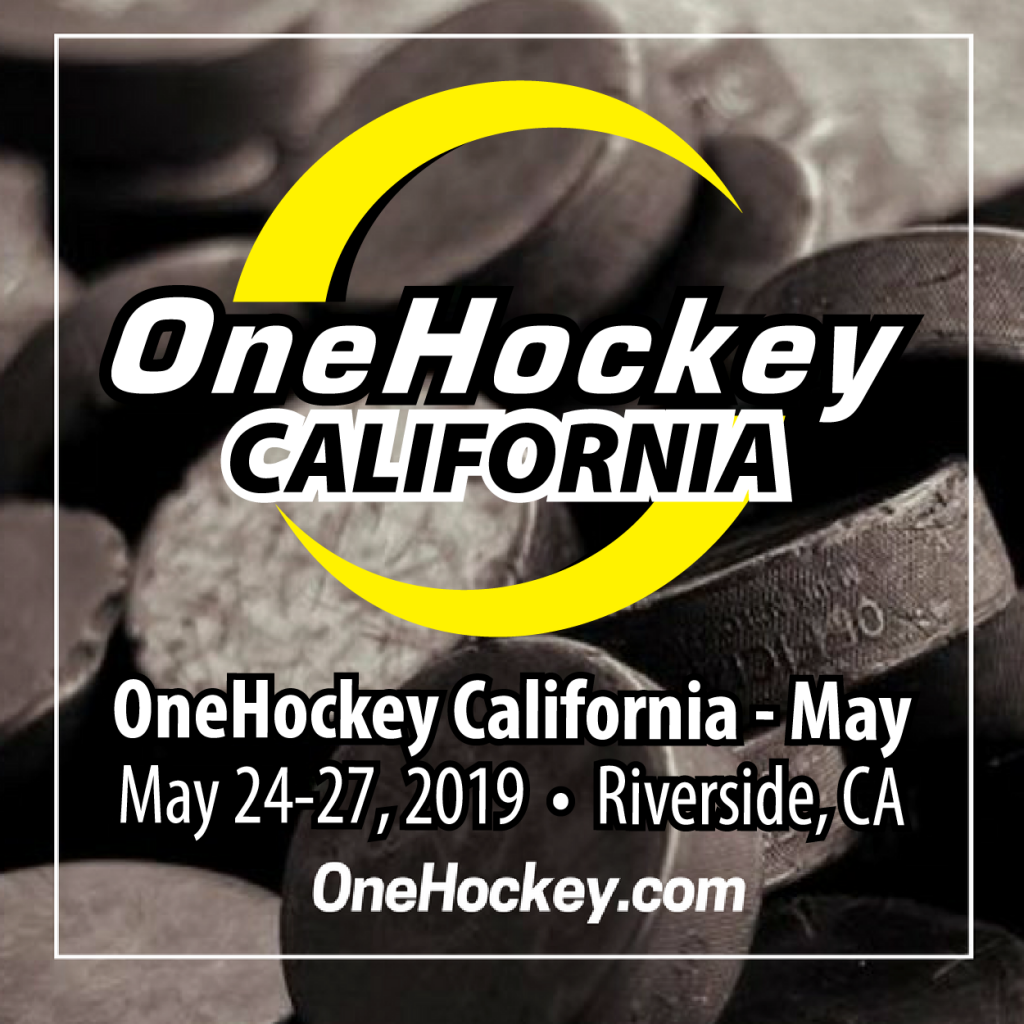 One Hockey California event poster for May 24-27, 2019