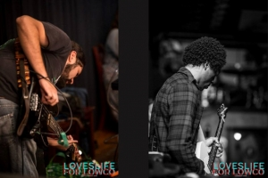 Two guitar players, LovesLife For Lowco