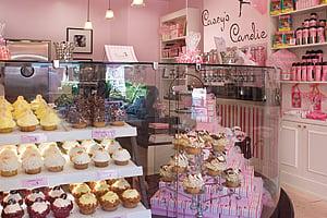 Casey's Cupcakes display case