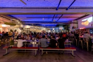 Crowd enjoys dining at the Food Lab