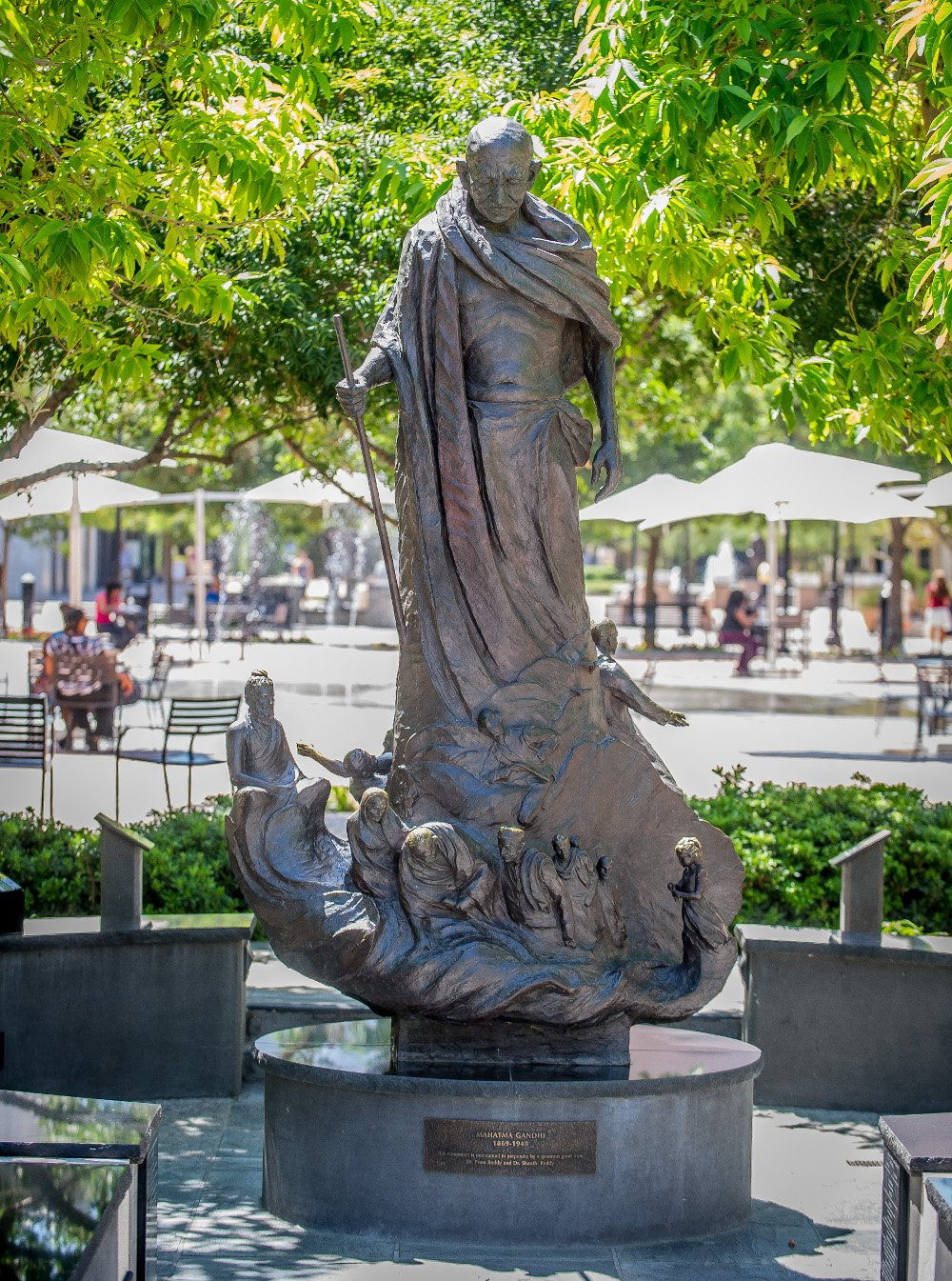 Downtown Riverside is a walking museum filled with statues of great leaders