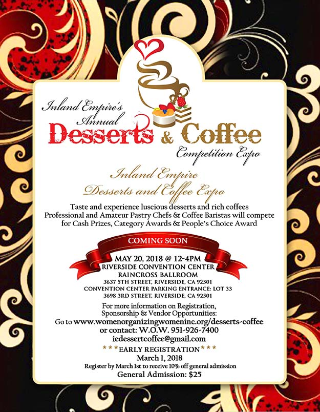 Inland Empire's Annual Desserts & Coffee Competition Expo
