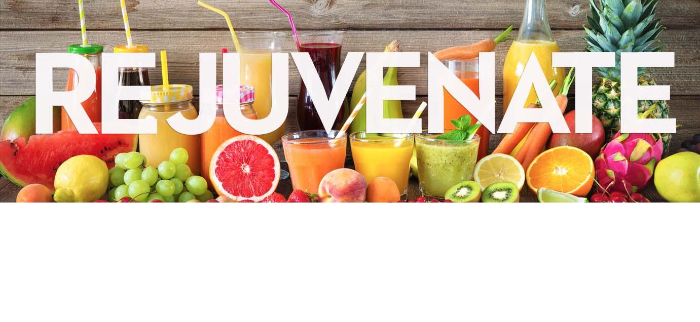 Rejuvinate juice bar header