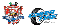 The Great Race and Coker Tire logos
