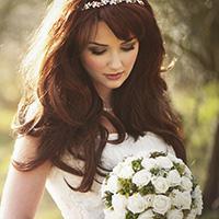 The Bride in Wedding Dress