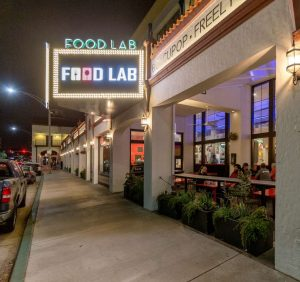 Food Lab outdoor signage