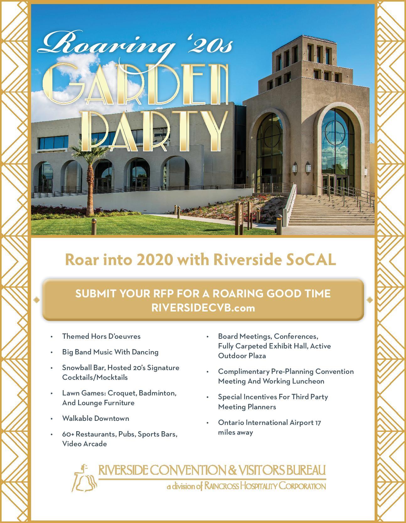 Roaring '20s Garden Party flyer